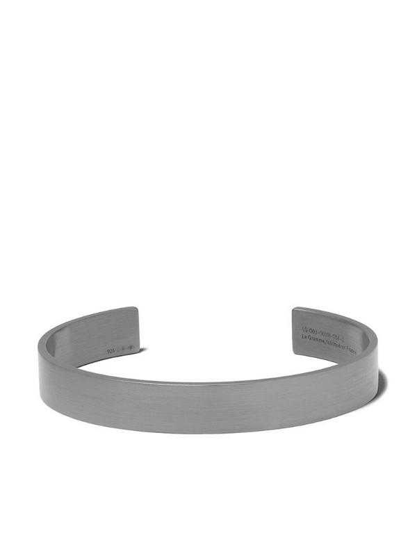 Le Gramme Le 33 Grammes ribbon bracelet in black / silver