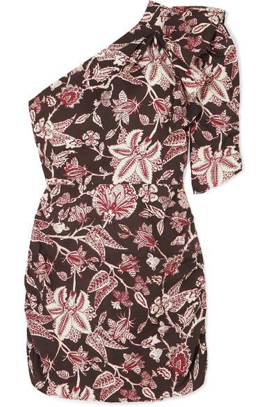 Isabel Marant - Lilia one-shoulder floral-print cotton mini dress