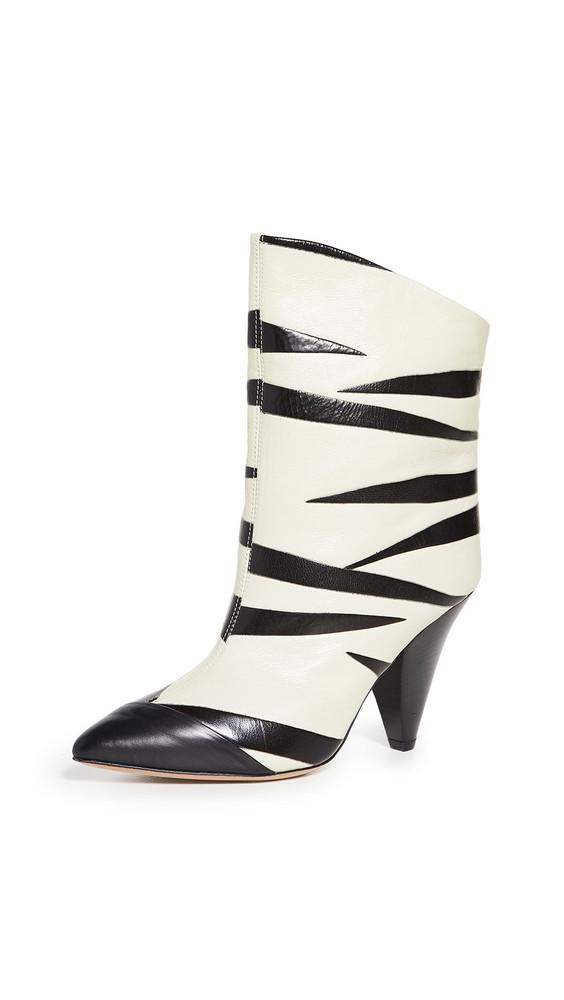 Isabel Marant Leebu Booties in black / white