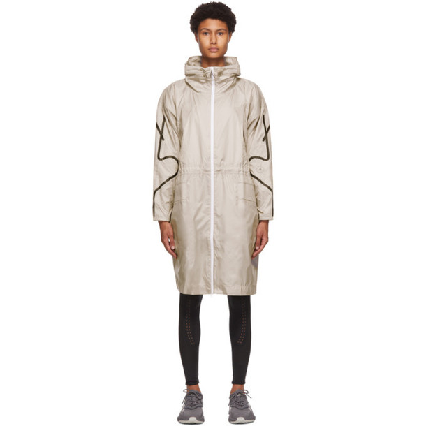adidas by Stella McCartney Taupe Packable Lightweight Parka in brown