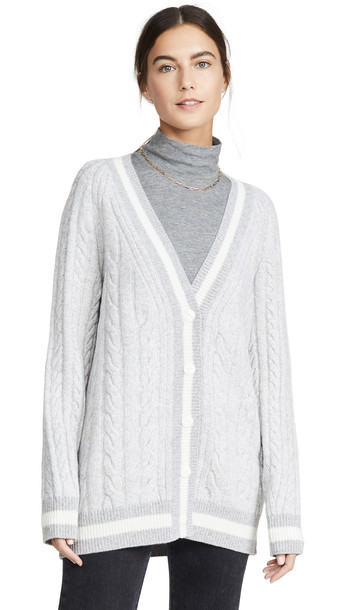 Rag & Bone Theon Cardigan in grey / ivory