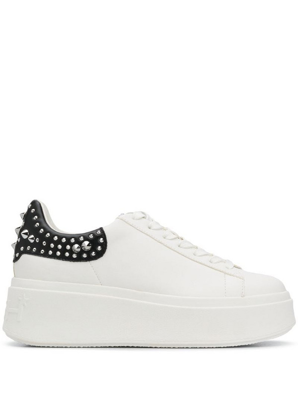 Ash Moby platform trainers in white