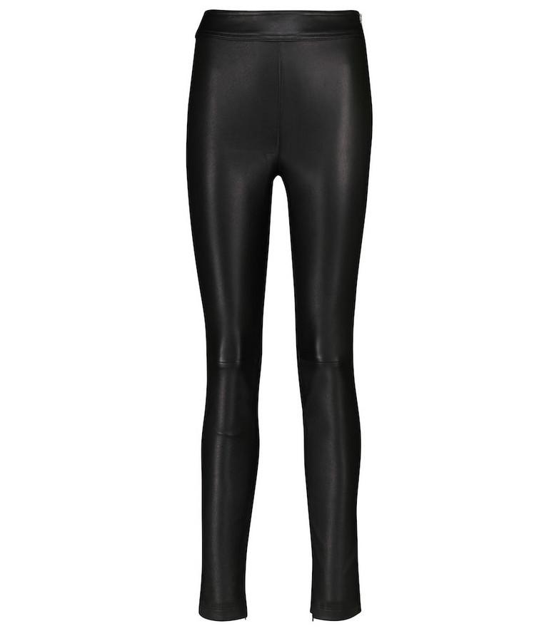 Helmut Lang High-rise leather leggings in black