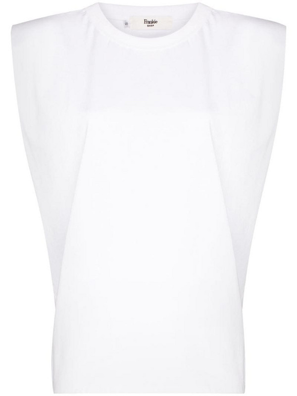 Frankie Shop Eva padded T-shirt in white