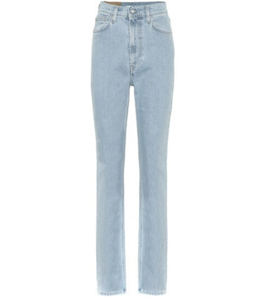 Helmut Lang Hi Spikes high-rise straight jeans in blue