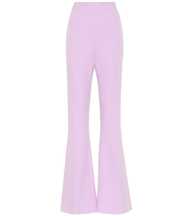 Safiyaa Hallie crêpe high-rise flared pants in purple