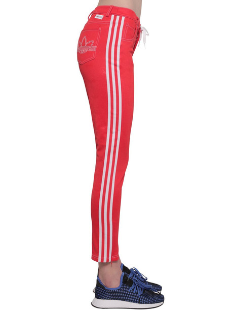 ADIDAS ORIGINALS Cotton Blend Pants in red