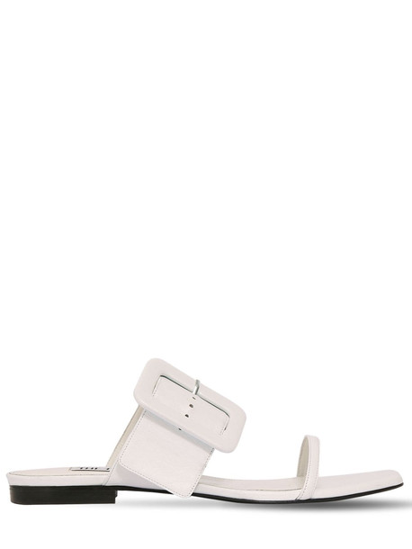 THE ATTICO 10mm Leather Sandals in white