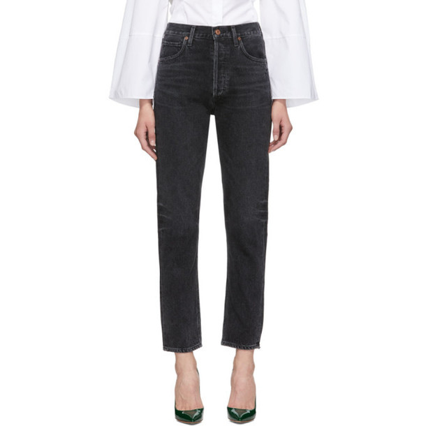 Citizens of Humanity Black Charlotte Long Jeans