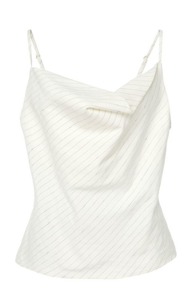 Marissa Webb Annabel Linen Tank in white