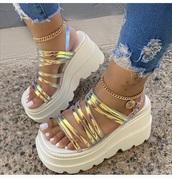 shoes,iridescent,sandals,white,platform shoes,platform sandals