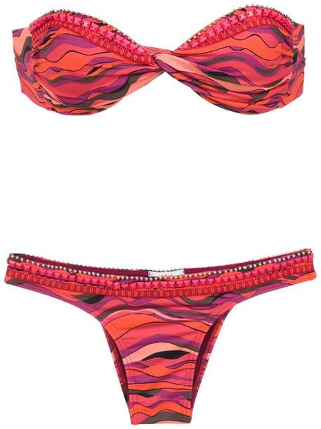 Amir Slama printed sleeveless top in pink