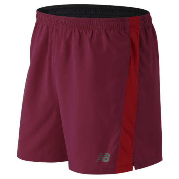 New Balance 61073 Men's Accelerate 5 Inch Short - Red (MS61073SDR)