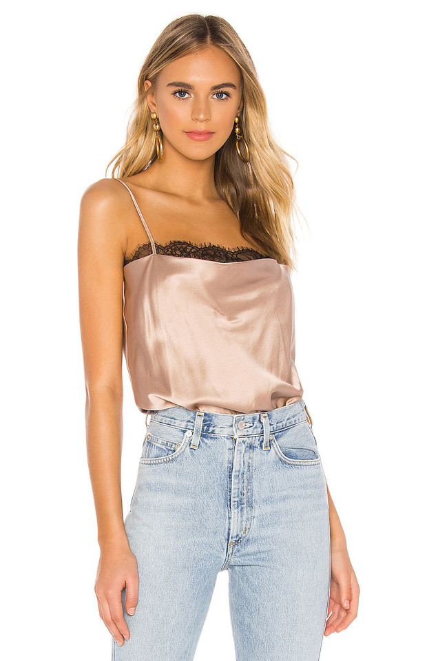 CAMI NYC The Rosie Bodysuit in taupe