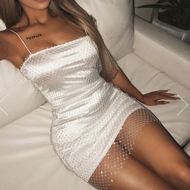 dress melanie crystal