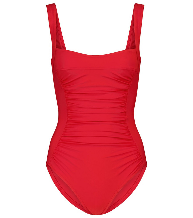 Karla Colletto Basics ruched swimsuit in red