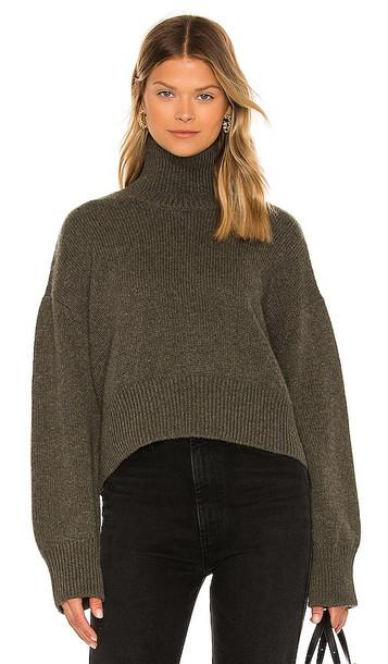 ANINE BING Camila Sweater in Green