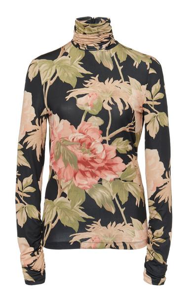 Zimmermann Floral-Print Cady Top