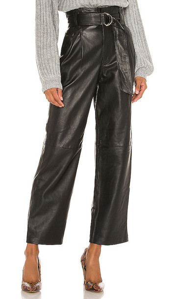 Song of Style Sebastienne Leather Pants in Black