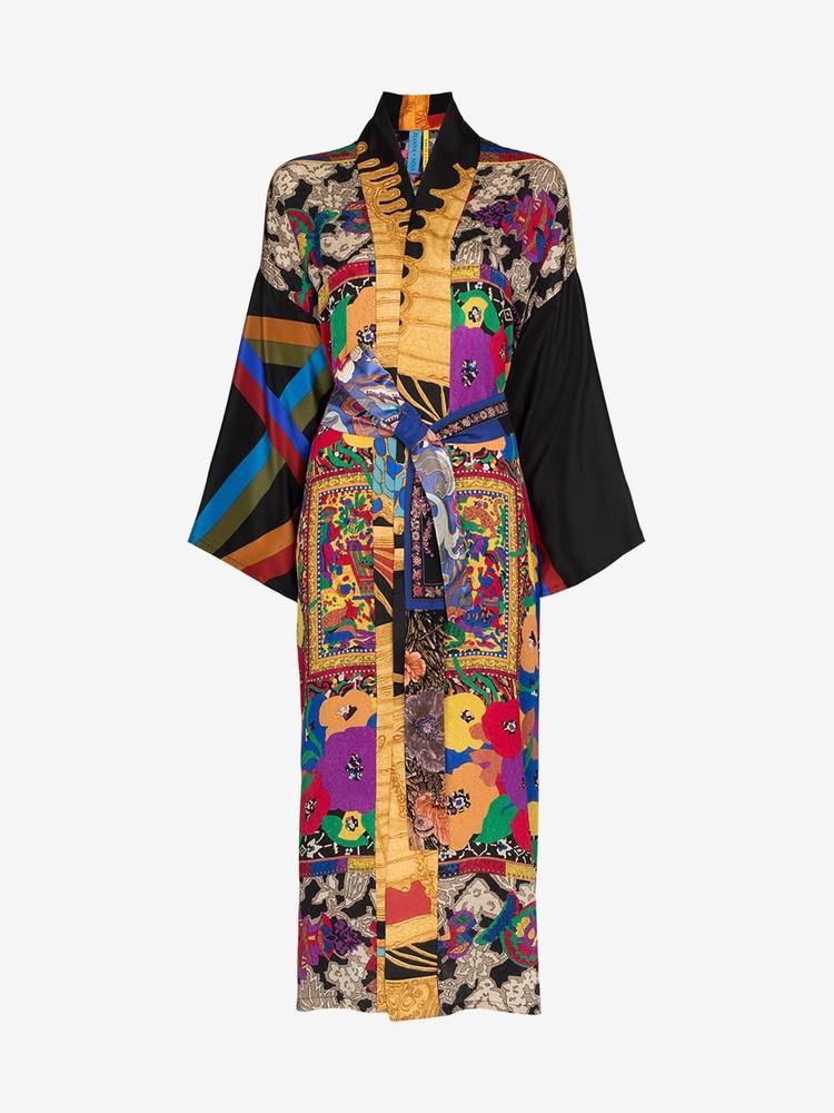 Rianna + Nina Rianna + Nina floral print silk kimono