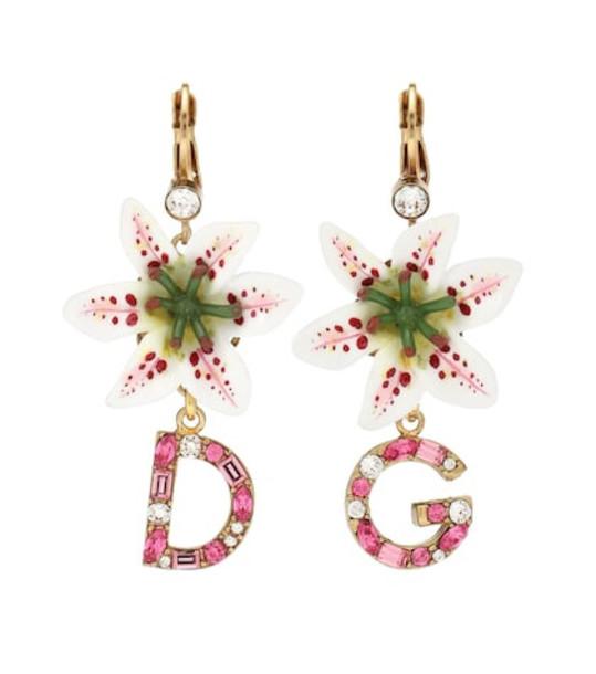 Dolce & Gabbana Embellished earrings in pink