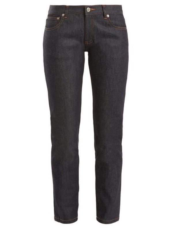 A.P.C. A.p.c. - Etroit Mid Rise Slim Leg Cropped Jeans - Womens - Indigo