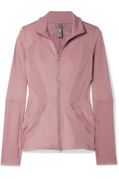 adidas by Stella McCartney - Essentials Mesh-paneled Climalite Jacket - Blush