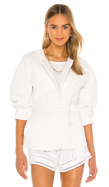 Tularosa Rowen Quilted Jacket in White