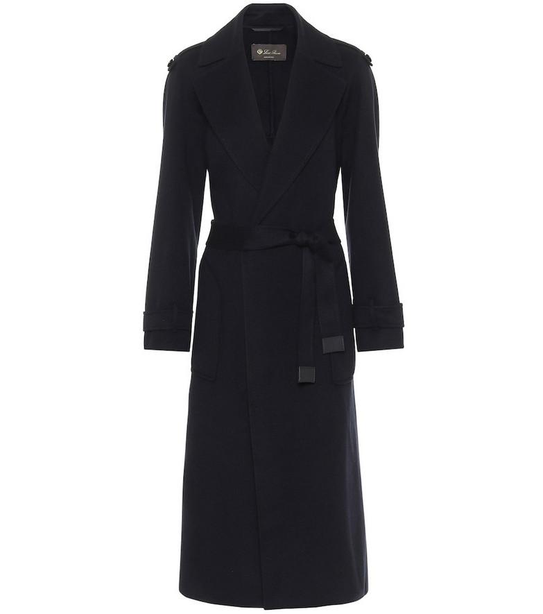 Loro Piana Kaelan cashmere coat in black