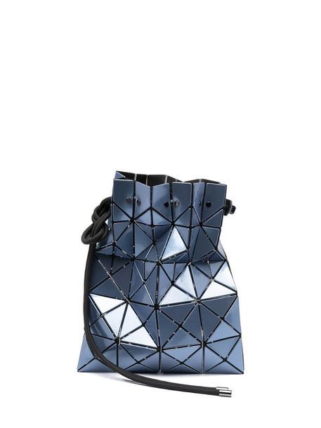 Bao Bao Issey Miyake Lucent metallic-effect bucket bag in blue