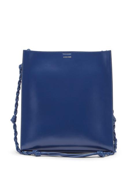Jil Sander - Tangle Medium Braided-strap Leather Shoulder Bag - Womens - Blue