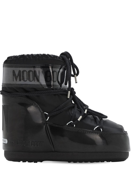 MOON BOOT Glance Waterproof Low Snow Boots in black