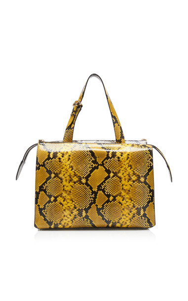 Rochas Printed Double Big Bag in yellow