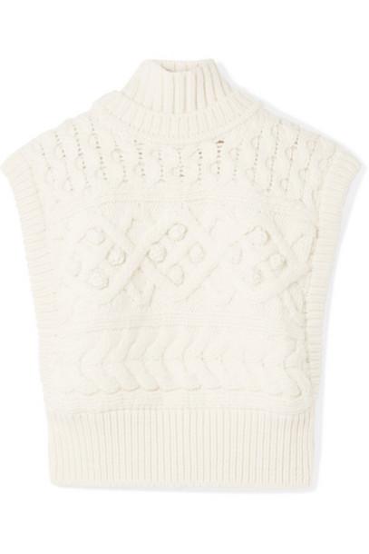 Isabel Marant - Minea Oversized Cable-knit Merino Wool Turtleneck Sweater - Ecru