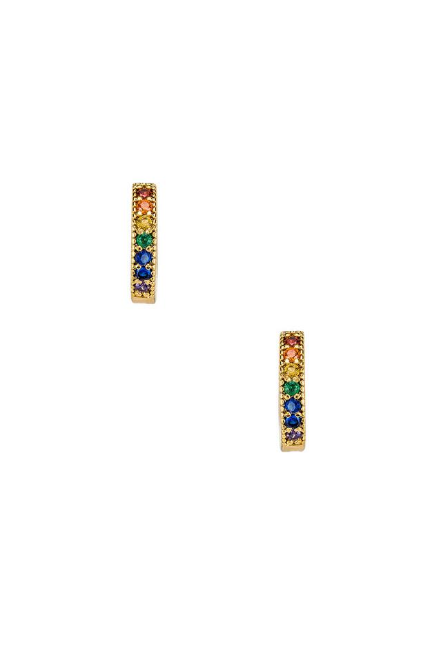 Five and Two Dallas Mini Stone Earrings in gold / metallic