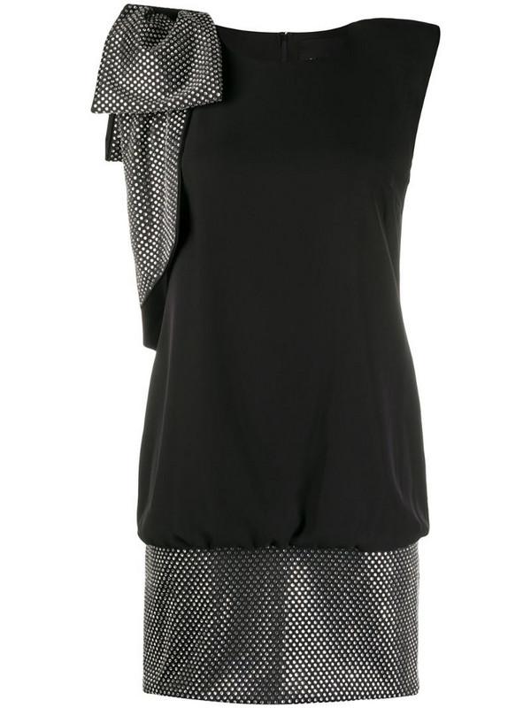 John Richmond rhinestone-embellished cocktail dress in black