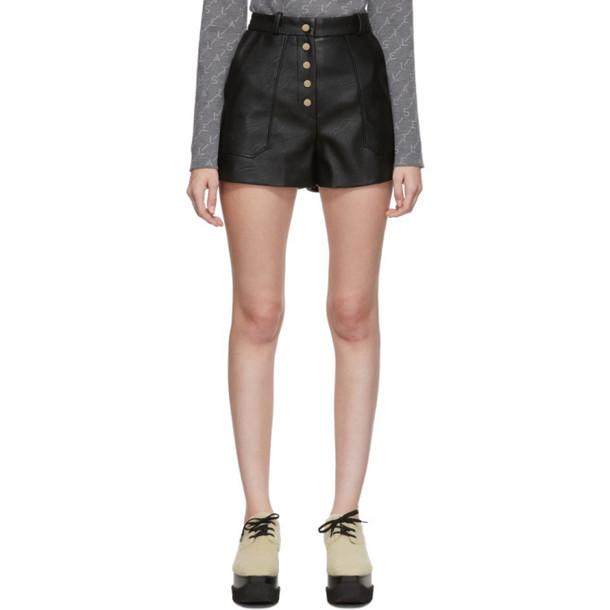 Stella McCartney Black Skin Free Skin Shorts