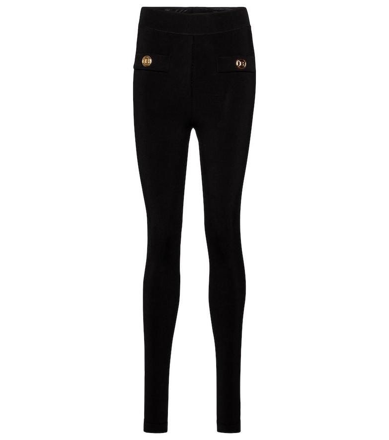 Balmain Knitted leggings in black