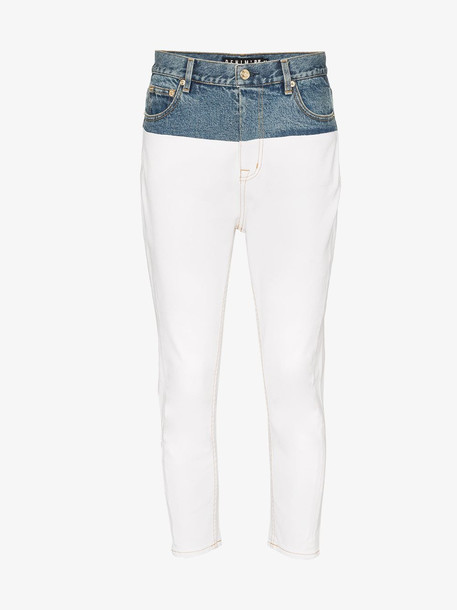 P.E Nation 1988 two tone skinny jeans in white