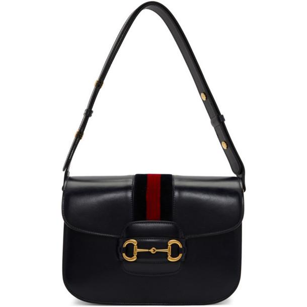 Gucci Navy 1955 Horsebit Shoulder Bag