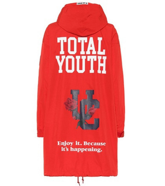 Undercover Printed parka in red