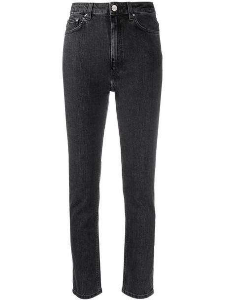 Totême high-rise skinny fit jeans in grey