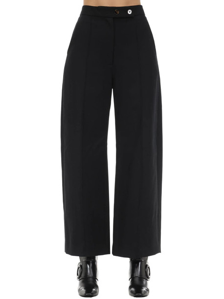 KHAITE Yasmin Water Resistant Cotton Twill Pant in black