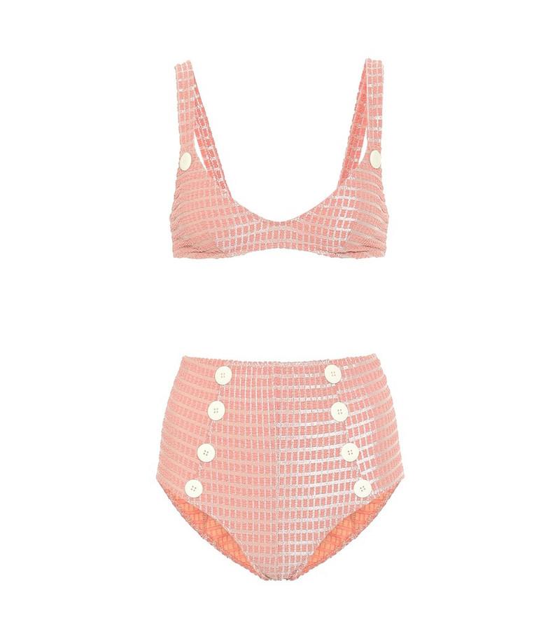 Lisa Marie Fernandez Magdalena embellished bikini in pink