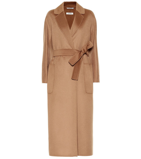 S Max Mara Amore wool and cashmere coat in brown