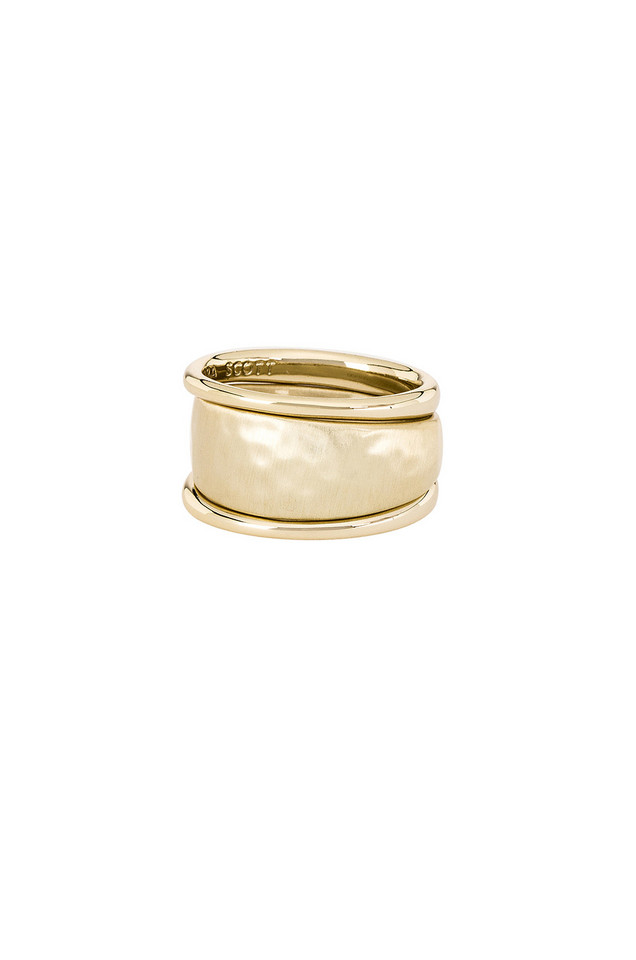 Kendra Scott Terra Ring Set in gold / metallic