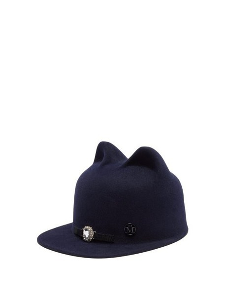 Maison Michel - Jamie Felt Hat - Womens - Navy