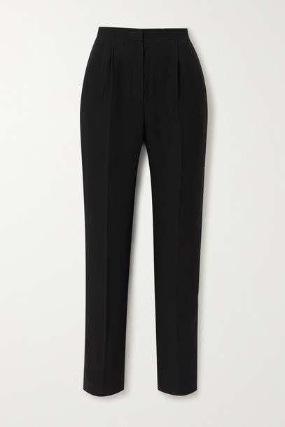 RASARIO - Crepe Tapered Pants - Black