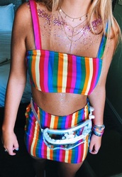 top,rainbow,stripeed top,crop tops,rave bra,festival top,camisole,colorful