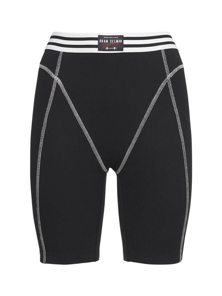 ADAM SELMAN SPORT French Cut Lounge Shorts in black